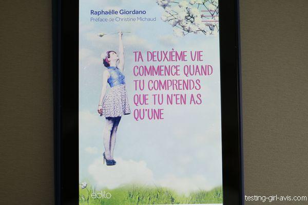 Ta deuxième vie commence quand tu comprends que tu n'en as qu'une - Raphaëlle Giordano couverture livre