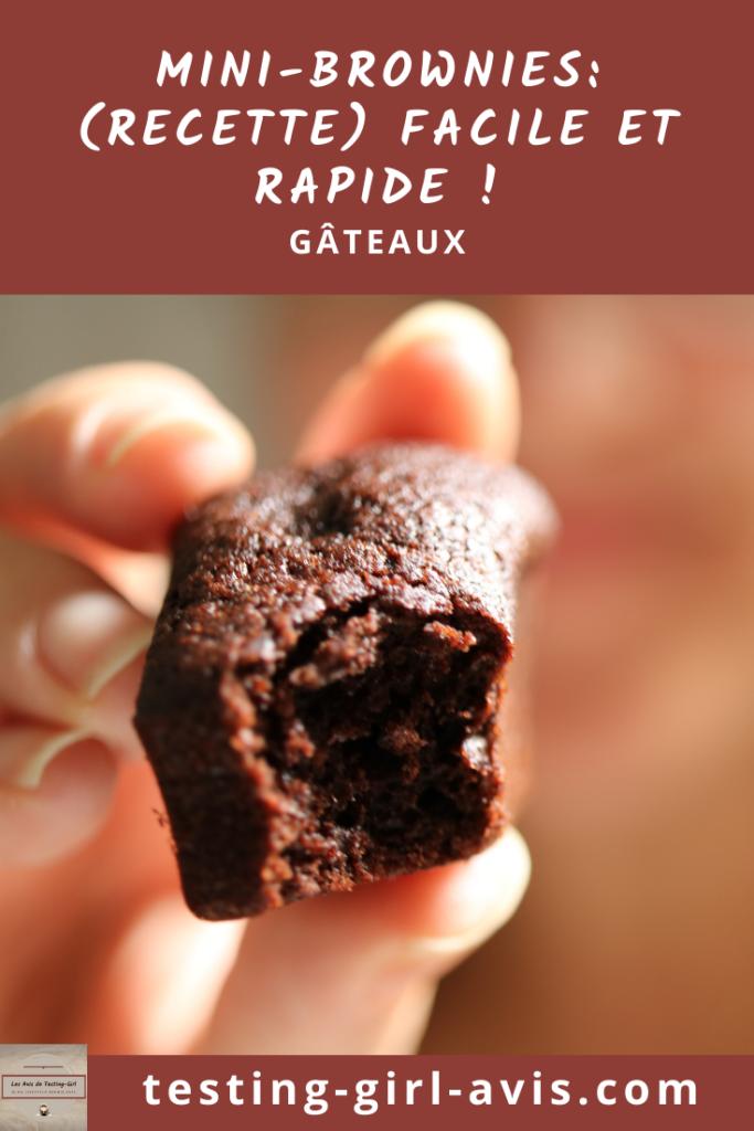Mini-Brownies: (recette) facile et rapide ! Pin