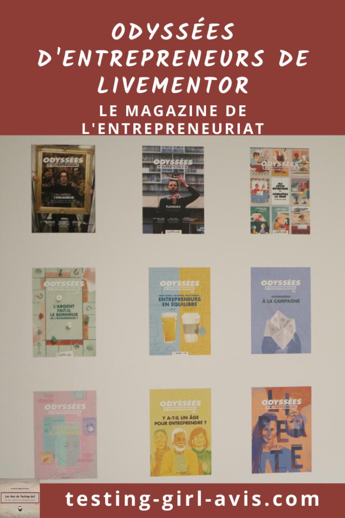 Odyssées d'entrepreneurs: le magazine de l'entrepreneuriat avec Livementor Pin