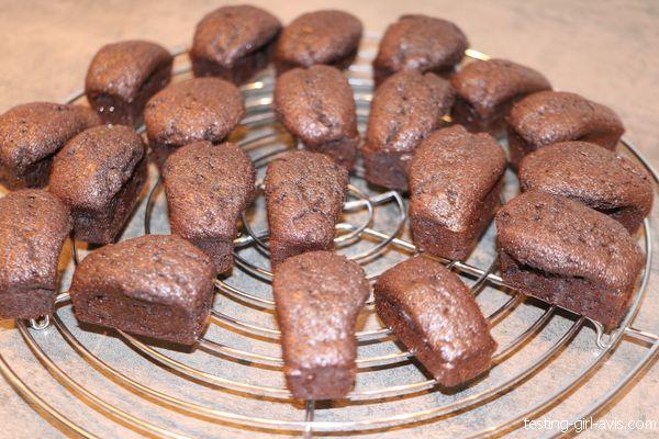 mini-brownies réalisés facilement