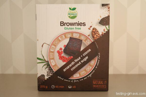 mélange facile pour brownies veggie&nature