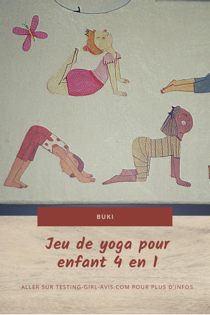 jeu de yoga pour enfant 4 en 1 buki Pin