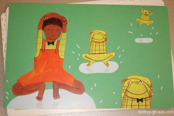 posture yoga pour enfant grenouille