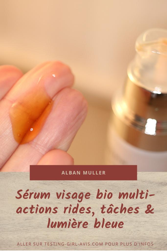Alban Muller - Le sérum visage bio anti-rides, anti tâches et anti-lumière bleue Pin