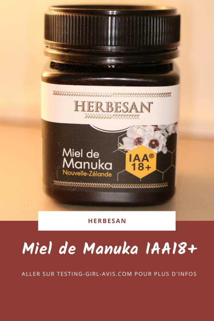 Le miel de Manuka IAA18+ de Herbesan Pin