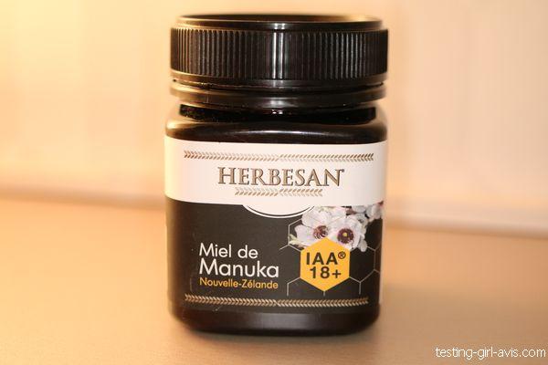 pot de miel de manuka IAA18+ herbesan