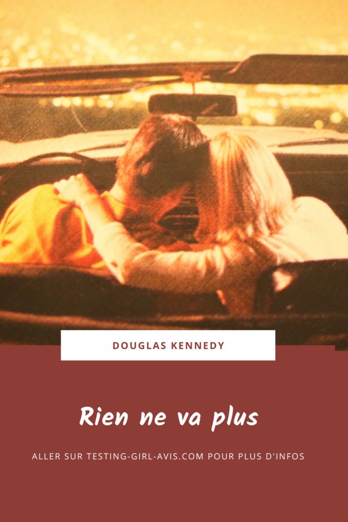 Rien ne va plus de Douglas Kennedy Pin