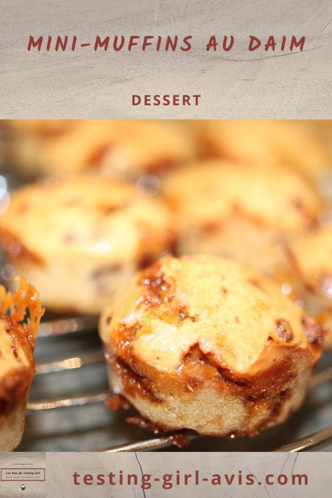 gateau au daim recette muffins Pin