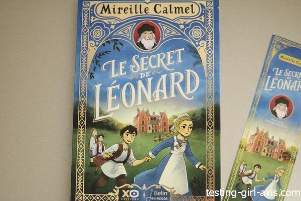 livre pour fille de 8 ans - Le secret de Léonard - Le résumé