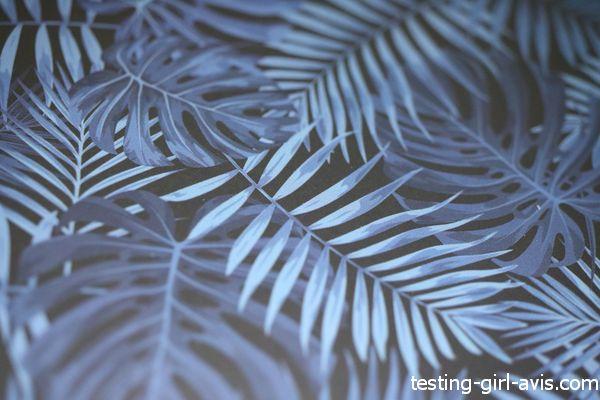 imprimé jungle bleu