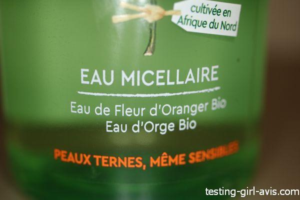 Mon avis sur l'eau micellaire illuminatrice Garnier Bio