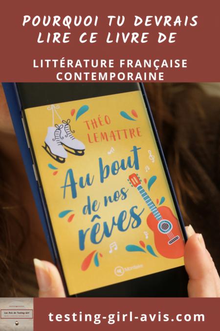 littérature française contemporaine au bout de nos rêves théo lemattre Pin