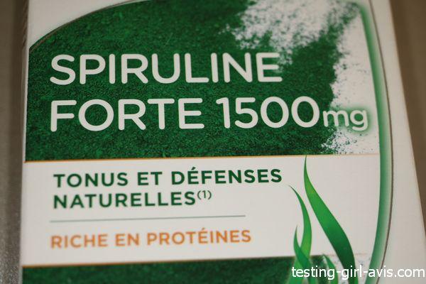 spiruline forte 1500 mg tonus et défenses naturelles riche en protéines (et mon avis)