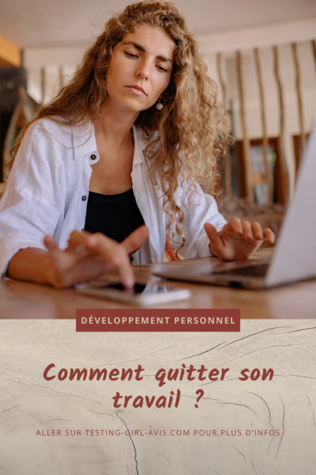 quitter son travail Pin