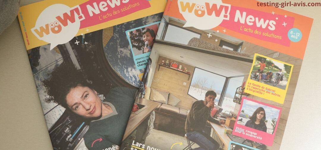 Mon avis sur le magazine jeunesse Wow News