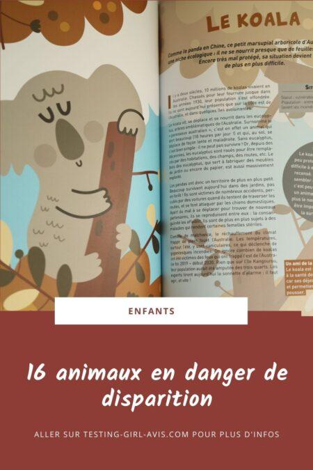 animaux en danger de disparition