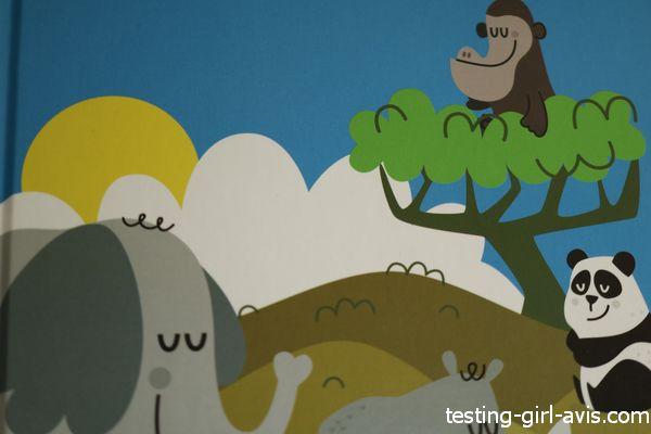 des illustrations d'animaux à protéger tout en douceur: gorille, éléphant, panda, rhinocéros...