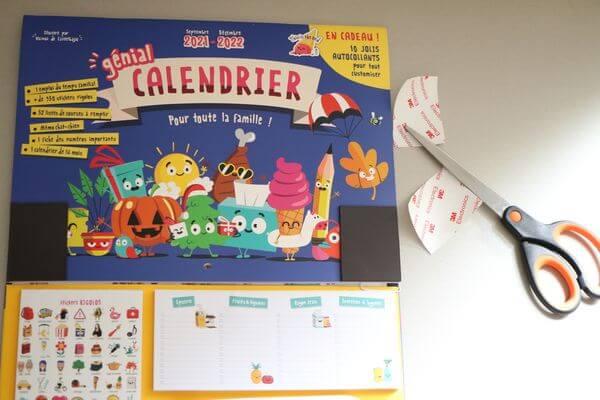 grand magnet calendrier familial