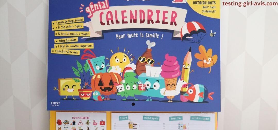 calendrier organisateur first